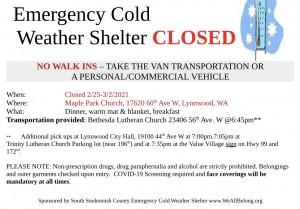 Emergency Cold Weath…